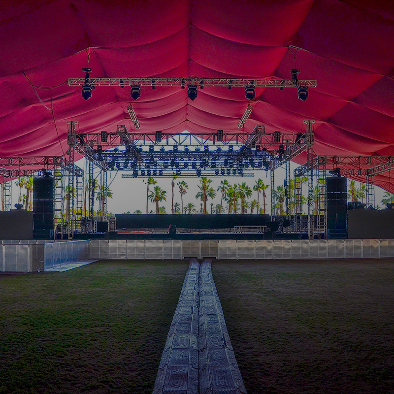 Festival staging example
