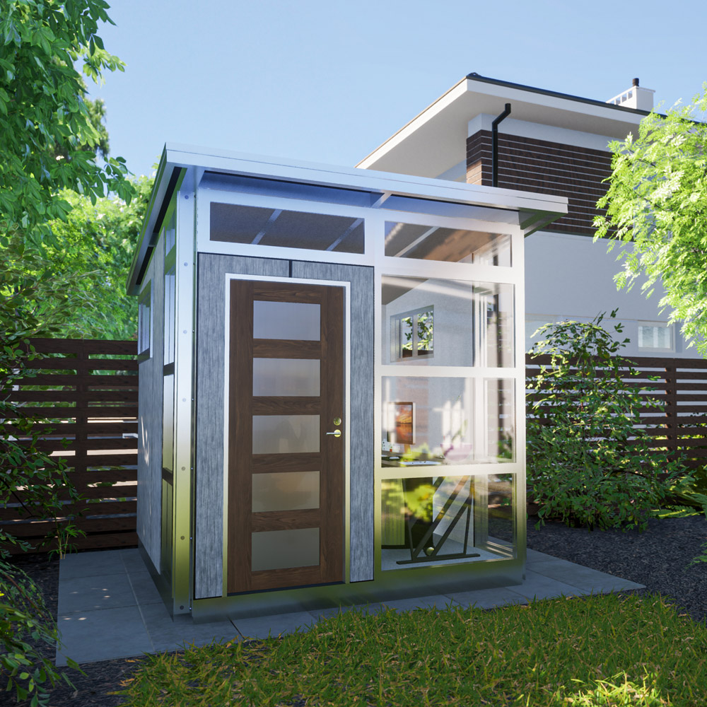 backyard office studio rendering