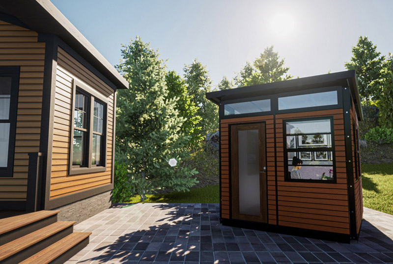 Introducing EXTudio – The Expertly Crafted Versatile Backyard Office Studio by All Access